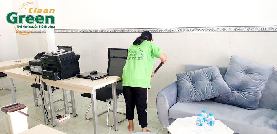 Dịch vụ dọn vệ sinh văn phòng theo giờ Green Clean