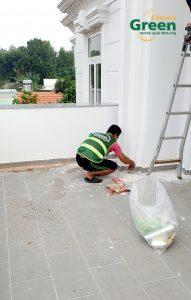 vệ sinh nhà sau xây dựng ở tân uyên