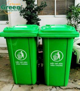 thung rác nhựa có bánh xe