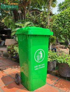 thùng rác nhựa có bấnh xe