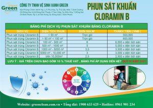 phun khử khuẩn Cloramin B
