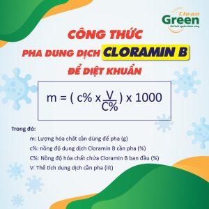 phun khử khuẩn bằng Cloramin B